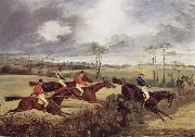 A Steeplechase, Near the Finish, Henry Thomas Alken